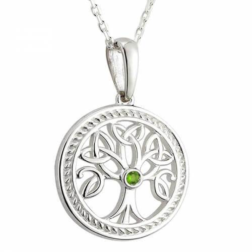 Baum des Lebens mit Smaragd CZ