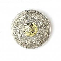 Keltische Krieger Brosche 18k Bead
