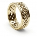 Men's Pierced Celtic Knot Ring with Trim - All Yellow Gold