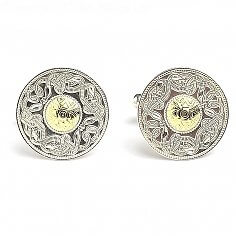 Large Celtic Warrior Cufflinks 18k Bead