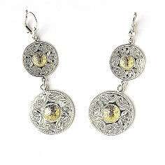 Celtic Warrior Double Earrings 18k Bead