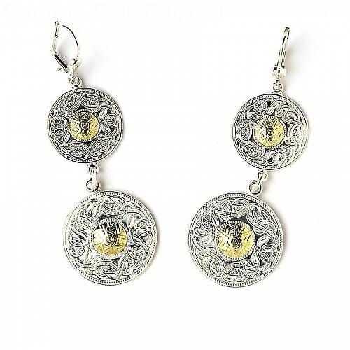 Celtic Warrior Double Earrings 18k Bead