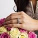 Bague de fiançailles noeud celtique - sur la main