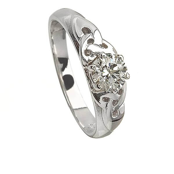 Engagement Rings Knot: Solitaire Trinity Knot Engagement Ring