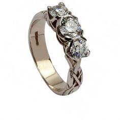 Keltischer Verlobungsring der Ewigkeit - Weißes Gold