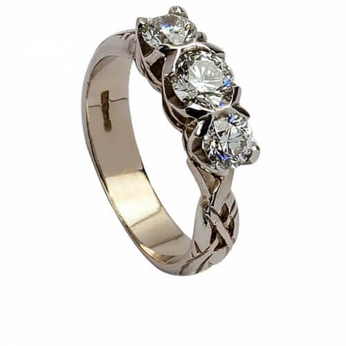 Eternity Engagement Ring - White Gold