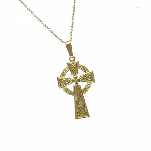 Medium Traditional Celtic Cross - Yellow Gold