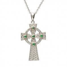 Celtic Design Cross - Silver