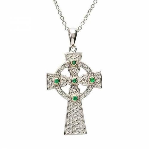 Keltisches Design Kreuz - Silber
