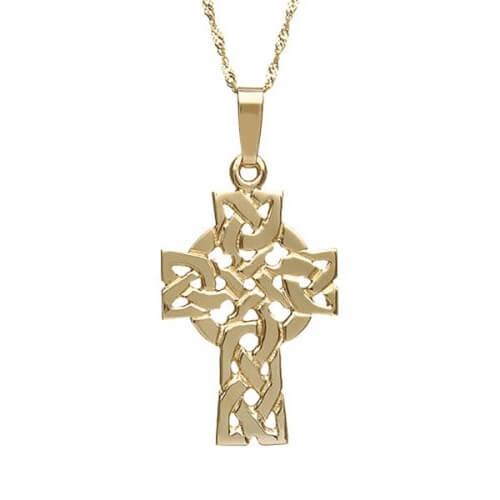 Croix celtique en filigrane massif - or jaune