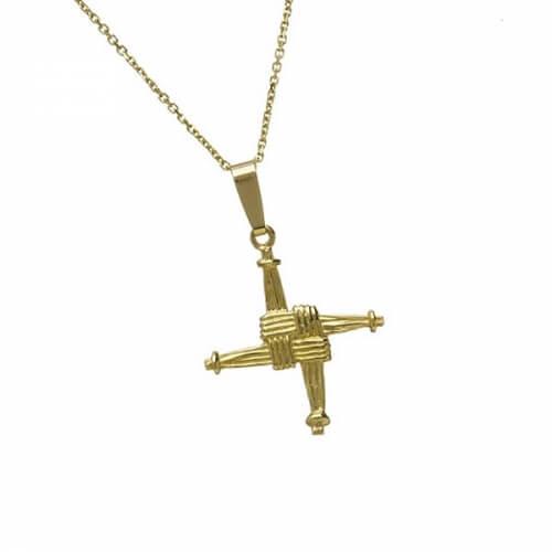 Petite croix St Brigid - Or jaune