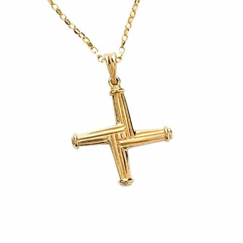 Kreuz der Heiligen Brigid - Gelbes Gold