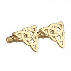 Keltische Dreiheit Knoten Manschettenknöpfe - Vergoldet