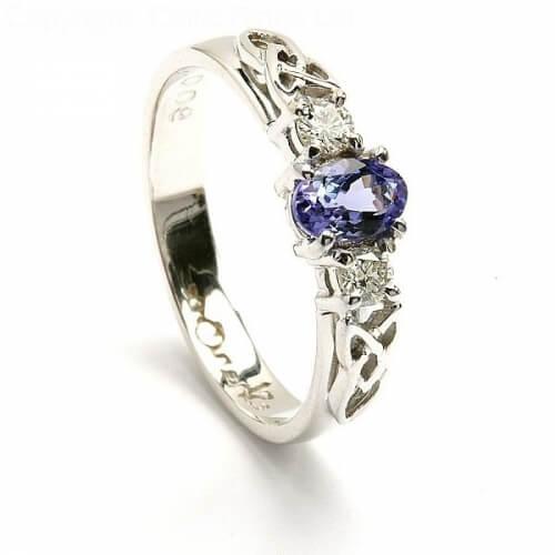 Tanzanite White Gold Engagement Ring