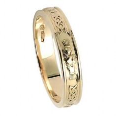 Bague de mariage Claddagh pour femme - Or jaune