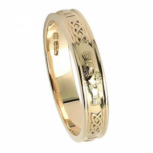 Women's Claddagh Wedding Ring - Yellow Gold