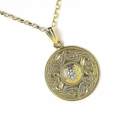 Large Celtic Warrior Pendant with Diamond