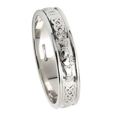 Claddagh Silver Wedding Ring