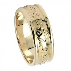 Mens Claddagh Wedding Ring