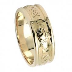 Bague de mariage pour homme Claddagh