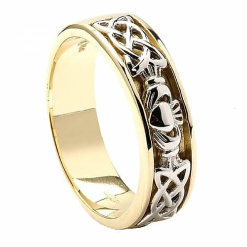 Mens Celtic Knot Claddagh Wedding Ring