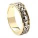 Herren Diamant Keltischer Knoten Claddagh Ehering - Gelb und Weißgold