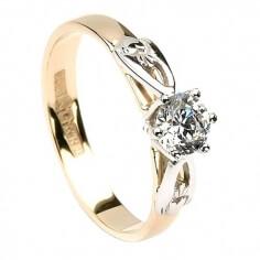 Claddagh Verlobungsring - Gelbgold