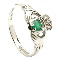 Irish Engagement Ring - White Gold