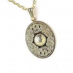 Guerrier celtique Pendentif ovale