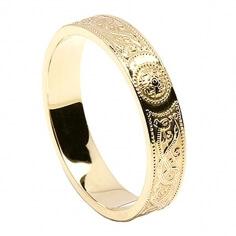 Damen irischen Ehering - Gelbes Gold
