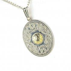 Guerrier celtique Pendentif ovale 18k Perle