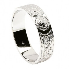 Men's Irish Wedding Ring - Silver