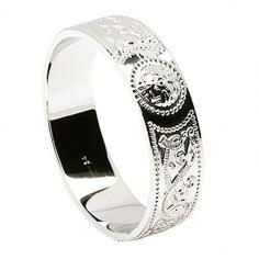 Men's Irish Wedding Ring - Silver