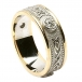Celtic Diamond Ring with Trim - With Yellow Trim
