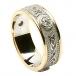 Bague à diamants celtiques avec bordure - Avec garniture jaune