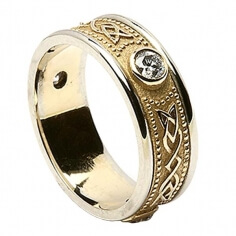 Celtic Diamond Ring with Trim