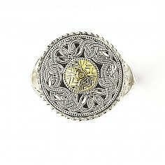 Celtic Warrior Ring 18k Bead