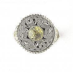 Guerrier celtique Anneau 18k Perle