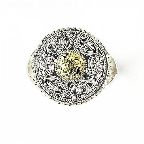 Celtic Warrior Ring 18k Bead