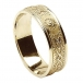 Mens Narrow Irish Ring with Trim - All Yellow Gold