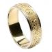 Herren Schmale irische Ring mit Trim - Gelb mit weißem Rand