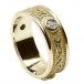 Keltischer Diamantring mit Besatz - Gold