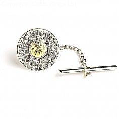 Small Celtic Warrior Tie Pin 18k Bead