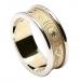 Women's Irish Wedding Ring with Trim - Yellow with White Trim