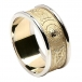 Men's Irish Wedding Ring with Trim - Yellow with White Trim