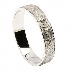 Women's Irish Wedding Ring - White Gold
