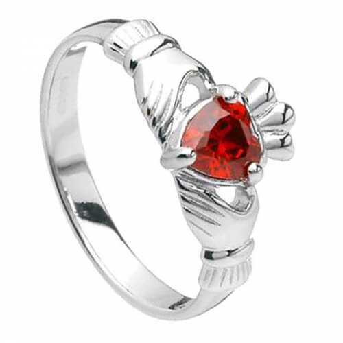 January Claddagh Ring - Silver