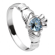 March Claddagh Ring - Silver