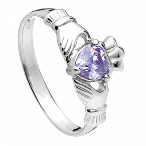 June Claddagh Ring - Silver