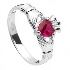 July Claddagh Ring - Silver